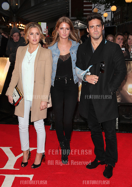 Caggie Dunlop, Millie Macintosh and Spencer Matthews arriving for 'The Lucky One' European Premiere, Bluebird, Chelsea, London. 23/04/2012 Picture by: Alexandra Glen / Featureflash