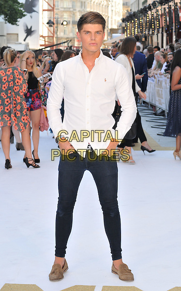 LONDON, ENGLAND - JUNE 30: Chris Baxter attends the &quot;Magic Mike XXL&quot; UK film premiere, Vue West End cinema, Leicester Square, on Tuesday June 30, 2015 in London, England, UK. <br /> CAP/CAN<br /> &copy;CAN/Capital Pictures