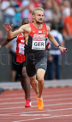 17.08.2014. Zurich, Switzerland. European Athletics Championships 2014 at the Letzigrund stadium in Zurich, Switzerland. 4x100 Metres Season Lucas  ger