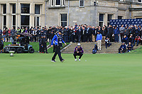 Victor Perez (FRA) on the 18th green during Round 4 of the Alfred Dunhill Links Championship 2019 at St. Andrews Golf CLub, Fife, Scotland. 29/09/2019.<br /> Picture Thos Caffrey / Golffile.ie<br /> <br /> All photo usage must carry mandatory copyright credit (© Golffile | Thos Caffrey)
