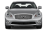 Car photography straight front view of a 2015 Infiniti Q70 Base 4 Door Sedan Front View