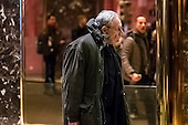 Journalist Bob Woodward is seen in the lobby of Trump Tower in New York, NY, USA on January 3, 2017. <br /> Credit: Albin Lohr-Jones / Pool via CNP