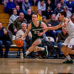 119 January 2019: Binghamton University Bearcat Guard J.C. Show, a Graduate student from Clarks Summit, PA, in second half Men's Basketball action against the University of Vermont Catamounts at Patrick Gymnasium in Burlington, Vermont. The Bearcats fell to the Catamounts 78-50 in America East conference play. Mandatory Credit: Ed Wolfstein Photo *** RAW (NEF) Image File Available ***
