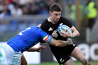 Beauden Barrett All Blacks, Leonardo Ghilardini Italy.<br /> Roma 24-11-2018  Stadio Olimpico,<br /> Rugby Cattolica Test Match 2018<br /> Italia vs Nuova Zealanda / Italy vs New Zealand <br /> Photo Antonietta Baldassarre / Insidefoto