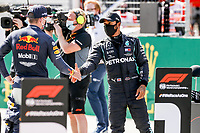4th July 2020; Red Bull Ring, Spielberg Austria; F1 Grand Prix of Austria, qualifying sessions;  33 Max Verstappen NLD, Aston Martin Red Bull Racing, 44 Lewis Hamilton GBR, Mercedes-AMG Petronas Formula One Team, Spielberg Austria
