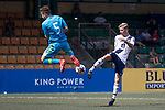 Bayer Leverkusen (in blue and green) vs HKFC (in white), during their Main Tournament Plate Quarter-Final match, part of the HKFC Citi Soccer Sevens 2017 on 28 May 2017 at the Hong Kong Football Club, Hong Kong, China. Photo by Chris Wong / Power Sport Images