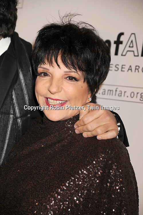 Liza Minnelli..arriving at The amfAR New York Gala Kick Off for Fashion Week on February 12, 2009 at Ciprianis 42nd Street. ....Robin Platzer, Twin Images