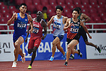 Akihiko Nakamura (JPN), <br /> AUGUST 25, 2018 - Athletics : Men's Decathlon 400m at Gelora Bung Karno Main Stadium during the 2018 Jakarta Palembang Asian Games in Jakarta, Indonesia. <br /> (Photo by MATSUO.K/AFLO SPORT)
