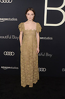 BEVERLY HILLS, CA - OCTOBER 8: Kaitlyn Dever at the Los Angeles Premiere of Beautiful Boy at the Samuel Goldwyn Theater in Beverly Hills, California on October 8, 2018. <br /> CAP/MPI/DE<br /> ©DE//MPI/Capital Pictures