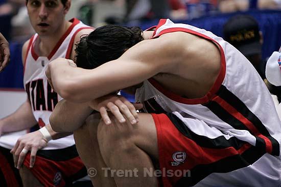 andrew bogut. Utah vs. Utep, NCAA mens basketball tournament, at the University of Arizona. Utah wins.&amp;#xA;3.17.2005<br />