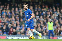 Cesc Fabregas of Chelsea during the Premier League match between Chelsea and Newcastle United at Stamford Bridge, London, England on 2 December 2017. Photo by David Horn.