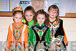 FEIS: Taking part in the Feis in Causeway Comprehensive School, on Sunday l-r: Megan Costello and Caoimhe Walsh (Tarbert), Amy O'Regan (Tralee) and Amy Carmody (Tarbert).......................