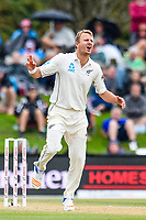 Neil Wagner of the Black Caps during Day 4 of the Second International Cricket Test match, New Zealand V England, Hagley Oval, Christchurch, New Zealand, 2nd April 2018.Copyright photo: John Davidson / www.photosport.nz