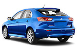 Car pictures of rear three quarter view of a 2015 Mitsubishi Lancer  Sportback 5 Door Hatchback angular rear