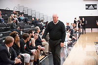 Coaching - Mike Wells, volunteer assistant coach<br /> The Occidental College men's basketball team take on Chapman University in Rush Gym, Jan. 13, 2016.<br /> (Photo by Marc Campos, Occidental College Photographer)
