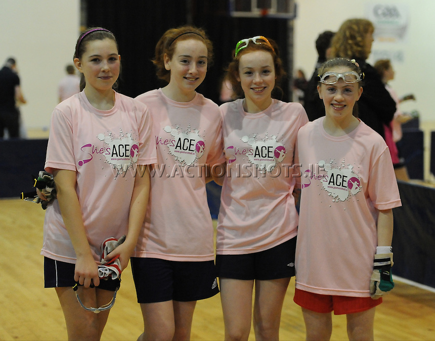 17th November 2013; Aoife Neryet, Emma Cosgrave, Karen Cosgrave, Clare Reynolds. She's Ace - Women in handball event, Breaffy House Sports Arena, Castlebar, Co Mayo. Picture credit: Tommy Grealy/actionshots.ie.