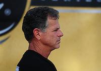 Oct. 16, 2011; Chandler, AZ, USA; NHRA pro stock motorcycle rider Jerry Savoie during the Arizona Nationals at Firebird International Raceway. Mandatory Credit: Mark J. Rebilas-