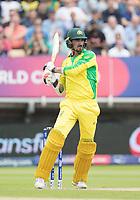 Mitchell Starc (Australia) mis times his pull shot during Australia vs England, ICC World Cup Semi-Final Cricket at Edgbaston Stadium on 11th July 2019