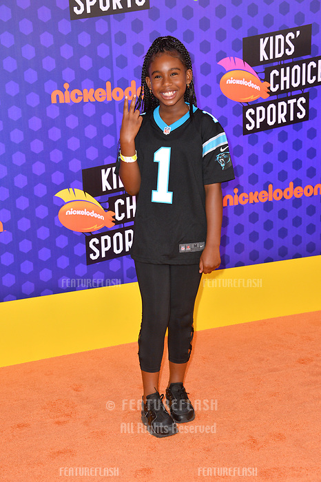Daria Johns at the Nickelodeon Kids' Choice Sports Awards 2018 at Barker Hangar, Santa Monica, USA 19 July 2018<br /> Picture: Paul Smith/Featureflash/SilverHub 0208 004 5359 sales@silverhubmedia.com