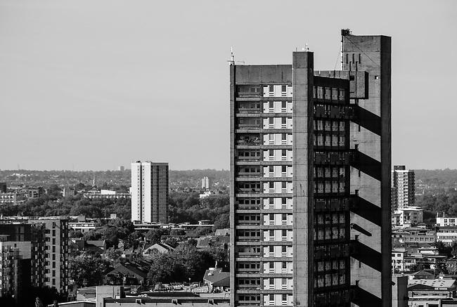 Type Residential Tower block, Architect Erno Goldfinger, Location Poplar East London, Captured 28 September 2015