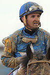 HOT SPRINGS, AR - FEBRUARY 19: Jockey Robby Alvarado after the Razorback Handicap at Oaklawn Park on February 19, 2018 in Hot Springs, Arkansas. (Photo by Justin Manning/Eclipse Sportswire/Getty Images)