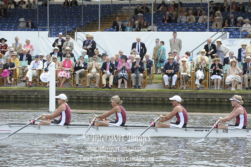 Henley, Great Britain. NZL W4X, Waiariki RC. New Zealand, [Paula TWINING] during the closing stages of the heat in the  Princess Grace Challenge Cup  2009 Henley Royal Regatta Friday 03/07/2009 at  [Mandatory Credit. Peter Spurrier/Intersport Images] . HRR.