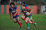 Chris Falkner counter attacks late in the game. Counties Manukau Premier rugby game between Waiuku & Ardmore Marist played at Waiuku on Saturday May 10th 2008..Ardmore Marist won 27 - 6 after leading 10 - 6 at halftime.