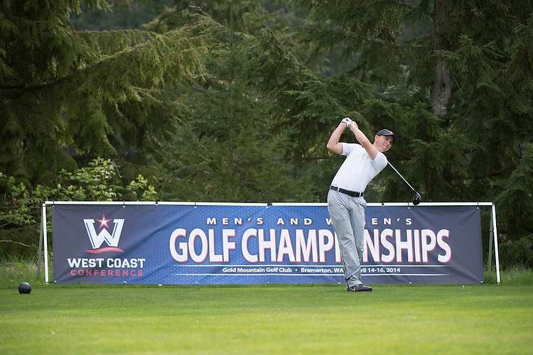 April 14, 2014; Bremerton, WA, USA; Loyola Marymount Lions golfer Chase Nicolai during the WCC Golf Championships at Gold Mountain Golf Club.