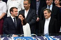 Emmanuel Macron - president de la Republique<br />  Nicolas Sarkozy<br /> Parigi 27-05-2017 Stade de France <br /> Angers - Paris Saint Germain PSG Finale Coppa di Francia 2016/2017  <br /> Foto JB Autissier/ Panoramic/insidefoto