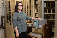 Jacqueline Reid Wachholz, Director of the Hartman Center for Sales, Advertising & Marketing History at the David M. Rubenstein Rare Book & Manuscript Library at Duke University in Durham, NC Monday, October 1, 2018. (Justin Cook)