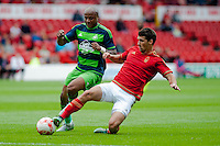 NOTTINGHAM, ENGLAND - JULY 25:  Andre Ayew in action during the pre season friendly match between Nottingham Forest and Swansea City at The City Ground on July 25, 2015 in Nottingham, England.  (Photo by Aled Llywelyn / Athena Pictures )