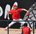 MLB: Pitcher Shohei Ohtani of the Los Angeles Angels pitches against Oakland Athletics