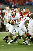 January 5th, 2008:  Rutgers quarterback Mike Teel (14) drops back to hand the ball off during the third quarter of the International Bowl at the Rogers Centre in Toronto, Ontario Canada...Rutgers defeated Ball State 52-30.  ..Photo By:  Mike Janes Photography