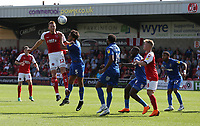 Fleetwood Town's Cian Bolger battles with Wimbledon's Will Nightingale<br /> <br /> Photographer Stephen White/CameraSport<br /> <br /> The EFL Sky Bet League One - Fleetwood Town v AFC Wimbledon - Saturday 4th August 2018 - Highbury Stadium - Fleetwood<br /> <br /> World Copyright &copy; 2018 CameraSport. All rights reserved. 43 Linden Ave. Countesthorpe. Leicester. England. LE8 5PG - Tel: +44 (0) 116 277 4147 - admin@camerasport.com - www.camerasport.com