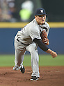 Masahiro Tanaka (Yankees),<br /> AUGUST 28, 2015 - MLB : Masahiro Tanaka of the New York Yankees pitches against the Atlanta Braves during the Major League Baseball inter league game at Turner Field in Atlanta, United States.<br /> (Photo by AFLO)