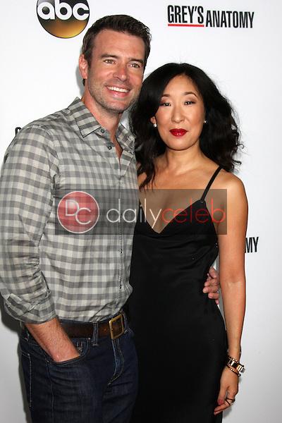 "Scott Foley, Sandra Oh<br /> at the ""Grey's Anatomy"" 200th Episode Red Carpet Event, Colony, Hollywood, CA 09-28-13<br /> David Edwards/Dailyceleb.com 818-249-4998"