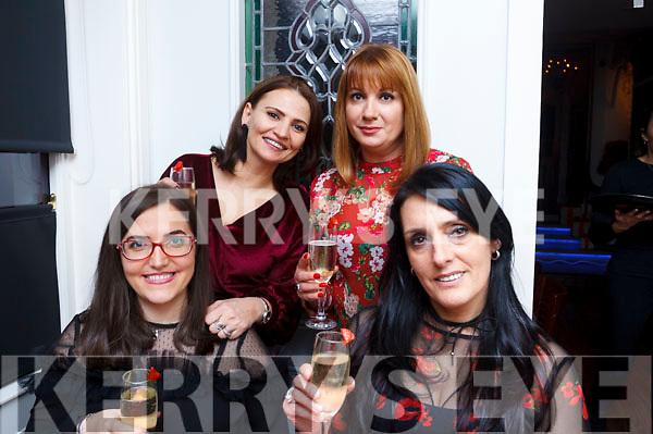 Girls night out in the Denny Lane restaurant on Saturday night. L-R Kaltrina Mehmeti, Bruna Bala, Mira Broche and Lili Miqi.