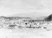 Panorama of Pagosa Springs, CO.  Box car on siding.<br /> D&amp;RG  Pagosa Springs, CO  1901