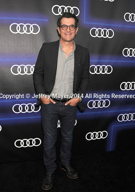 LOS ANGELES, CA- AUGUST 21: Actor Ty Burrell arrives at the Audi Emmy Week Celebration at Cecconi's Restaurant on August 21, 2014 in Los Angeles, California.