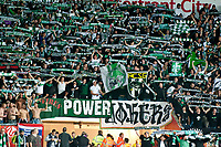 Thursday  03 October  2013  Pictured:St. Gallen Fans<br /> Re:UEFA Europa League, Swansea City FC vs FC St.Gallen,  at the Liberty Staduim Swansea