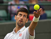 London, England, 2 July, 2016, Tennis, Wimbledon, Novak Djokovic (SRB)<br /> Photo: Henk Koster/tennisimages.com
