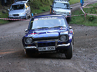 Wayne Bonser / Richard Aston at Junction 6, on Special Stage 1 Craigvinean in the Colin McRae Forest Stages Rally 2012, Round 8 of the RAC MSA Scotish Rally Championship which was organised by Coltness Car Club and based in Aberfeldy on 5.10.12.