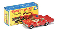 BNPS.co.uk (01202 558833)<br /> Pic: Vectis/BNPS<br /> <br /> Pictured:  Matchbox Superfast 59a Ford Galaxie Fire Chief Car <br /> <br /> One man's vast collection of model cars amassed over a lifetime has sold at auction for an incredible £250,000.<br /> <br /> Simon Hope, 68, has been collecting matchbox models since he was a small child and has bought over 4,000 over the past six decades.<br /> <br /> His hobby has cost him thousands of pounds and at and engulfed a huge slice of his life but he has now decided to part with the toys