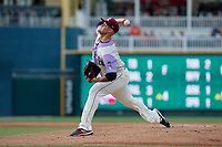 Frisco RoughRiders pitcher Collin Wiles (28) during a Texas League game against the Amarillo Sod Poodles on July 13, 2019 at Dr Pepper Ballpark in Frisco, Texas.  (Mike Augustin/Four Seam Images)