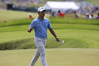 Si Wo Kim (KOR) on the 8th green during Saturday's Round 3 of the 117th U.S. Open Championship 2017 held at Erin Hills, Erin, Wisconsin, USA. 17th June 2017.<br /> Picture: Eoin Clarke | Golffile<br /> <br /> <br /> All photos usage must carry mandatory copyright credit (&copy; Golffile | Eoin Clarke)