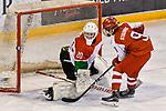 03.01.2020, BLZ Arena, Füssen / Fuessen, GER, IIHF Ice Hockey U18 Women's World Championship DIV I Group A, <br /> Daenemark (DEN) vs Ungarn (HUN), <br /> im Bild Shot-Out, Sarah Stauning (DEN, #9) scheitert an Zsofia Toth (HUN, #20)<br /> <br /> Foto © nordphoto / Hafner