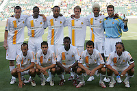 LA Galaxy starting XI team. The LA Galaxy beat Real Salt Lake 3-2 at the Home Depot Center in Carson, California, Sunday, June 17, 2007.