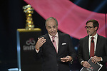 Presentation of the Grand Start of the 102nd edition of the Giro d'Italia 2019 held in the RAI TV studios, Milan, Italy. 31st October 2018.<br /> Picture: LaPresse/Marco Alpozzi | Cyclefile<br /> <br /> <br /> All photos usage must carry mandatory copyright credit (&copy; Cyclefile | LaPresse/Marco Alpozzi)