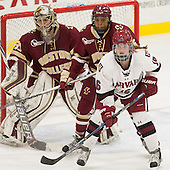 Katie Burt (BC - 33), Kaliya Johnson (BC - 6), Lexie Laing (Harvard - 16) - The visiting Boston College Eagles defeated the Harvard University Crimson 2-0 on Tuesday, January 19, 2016, at Bright-Landry Hockey Center in Boston, Massachusetts.