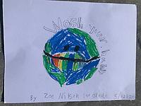 Wash your hands world. Zoe Nilson Grade 1. Yarmouth Maine